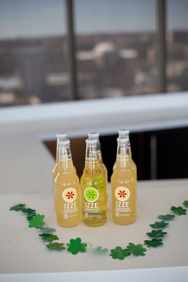 IZZE Sparkling Peach and Apple, St Patty's Day Entertaining Ideas