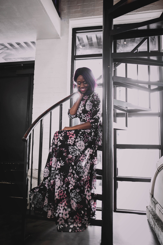 Top D.C. Fashion Blogger, How to Wear a Long Floral Dress