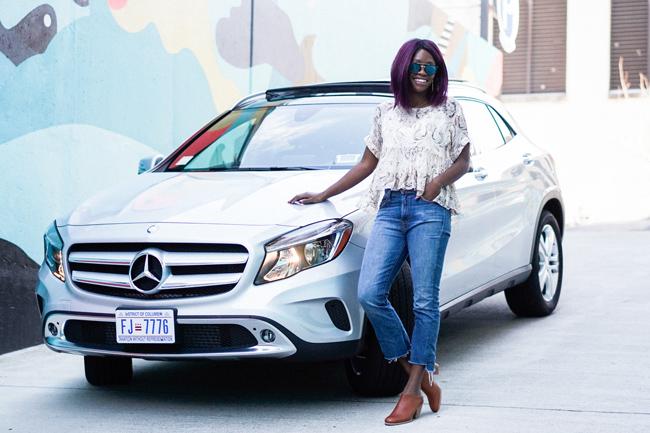 car2go Mercedes Fleet, Casual Spring Outfit Idea