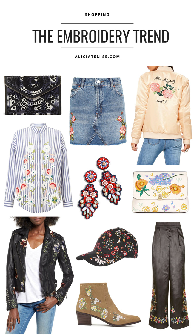 D.C. blogger Alicia Tenise rounds up the best of the embroidery trend - Embroidery Trend: All Things Embroidered by popular Washington DC style blogger Alicia Tenise
