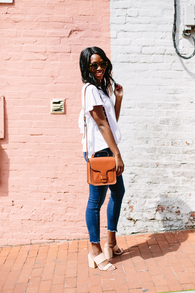 How to Wear the Cropped Denim Trend - The Top 10 Best Places to Take Photos in D.C. featured by popular DC blogger, Alicia Tenise