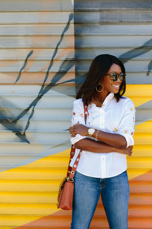 Blank NYC Embroidered Tie Back Shirt - The Top 10 Best Places to Take Photos in D.C. featured by popular DC blogger, Alicia Tenise