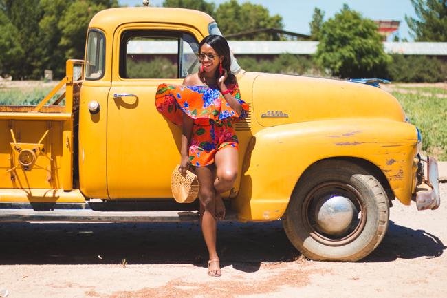 Travel blogger Alicia Tenise visits Scnepf Farms in Mesa Arizona