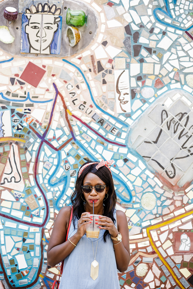 Philadelphia Magic Gardens Mural, Madewell Bandana Scarf - Contact Washington DC Fashion Blogger Alicia Tenise