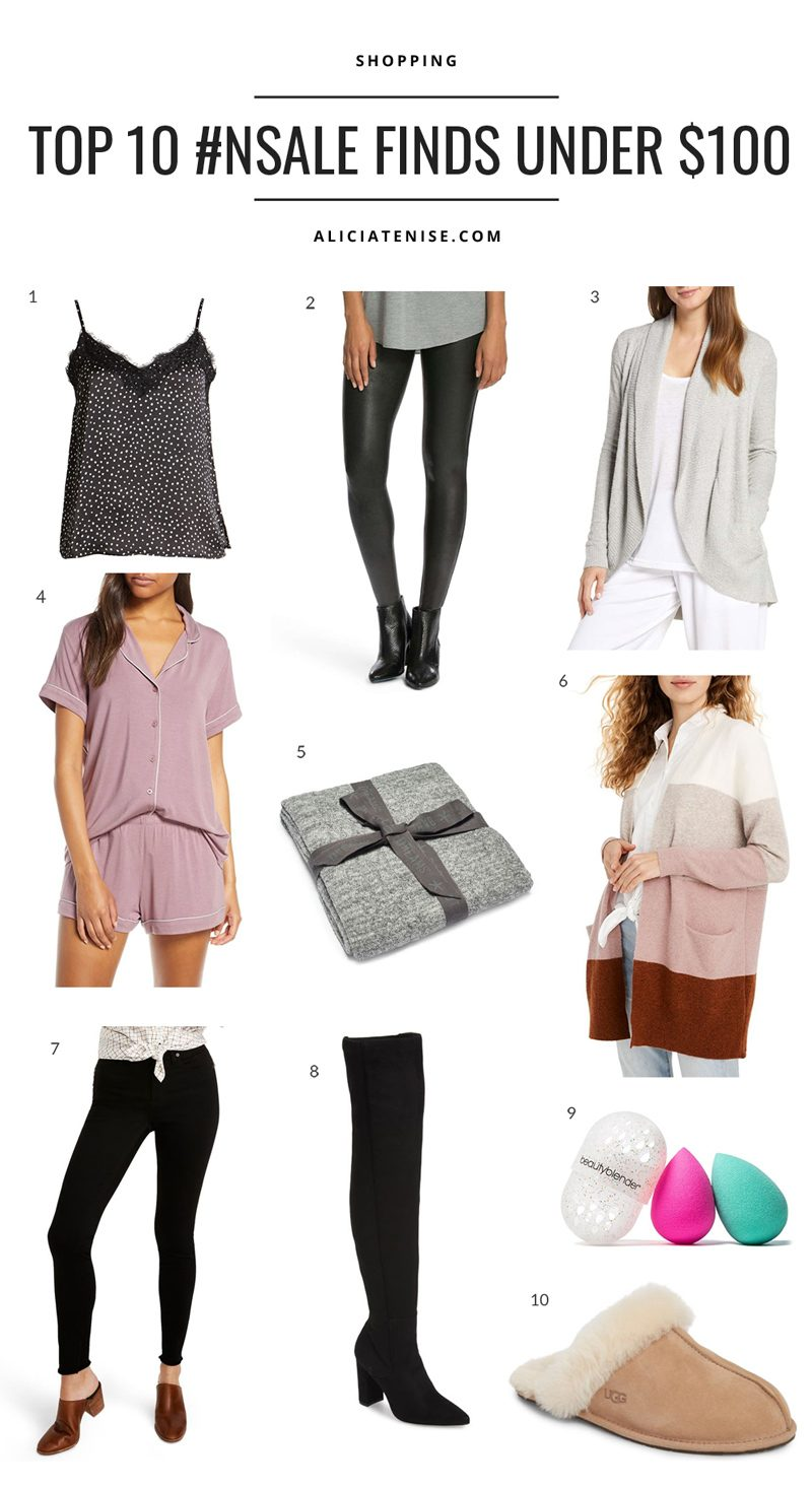 Nordstrom Anniversary Sale: Top Picks Under $100 featured by top US fashion blog, Alicia Tenise: collage image of top 10 Nordstrom Anniversary Sale items for under $100.