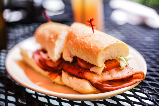 Po Boy from Napoleon House in New Orleans - New Orleans Travel Guide featured by popular DC travel blogger, Alicia Tenise
