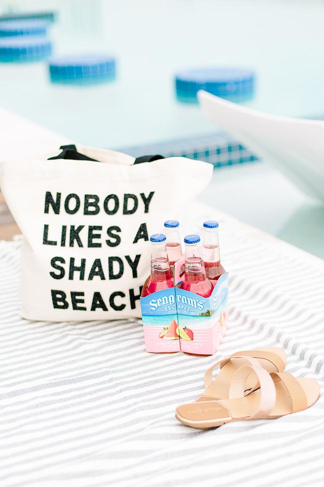 Fallon & Royce Nobody Likes a Shady Beach Tote Bag