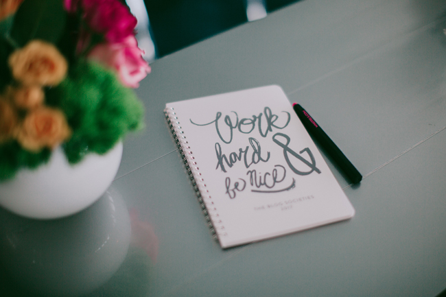 Work Hard and Be Nice Custom Minted Notebook