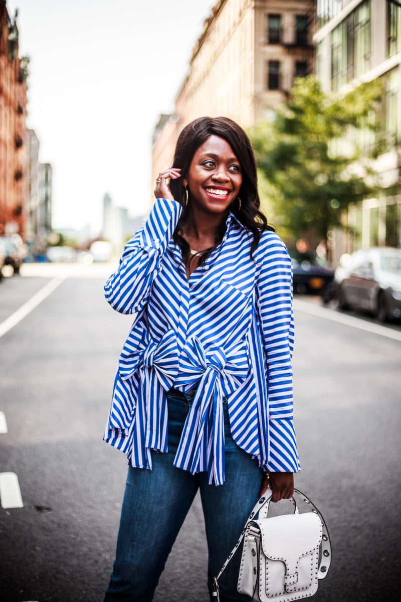Bow Stripe Top, How to Rock a Statement Top