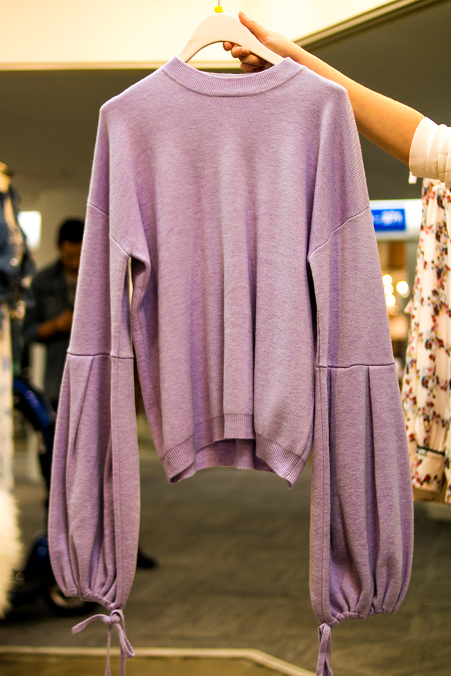 Lavender Bell Sleeve Sweater by Endless Rose at Spring 2018 AmericasMart Atlanta - AmericaSmart by Washington DC fashion blogger Alicia Tenise