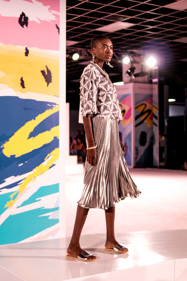 Metallic Pleated Skirt Trend at AmericasMart Atlanta - AmericaSmart by Washington DC fashion blogger Alicia Tenise