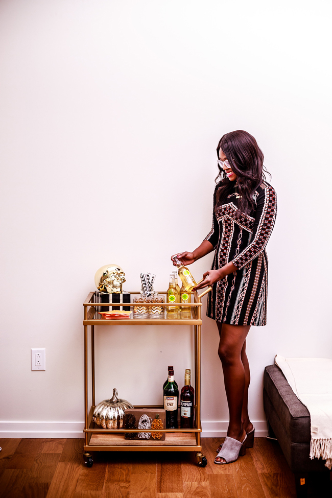 Free People Stella Mini Printed Dress, Halloween Entertaining with Alicia Tenise - Last Minute Halloween Entertaining Ideas by Washington DC style blogger Alicia Tenise