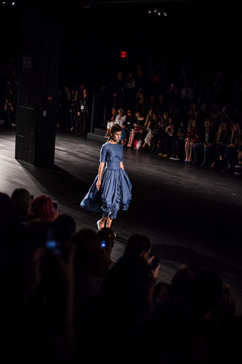 Blue Plaid Dress Francesca Liberatore SS18