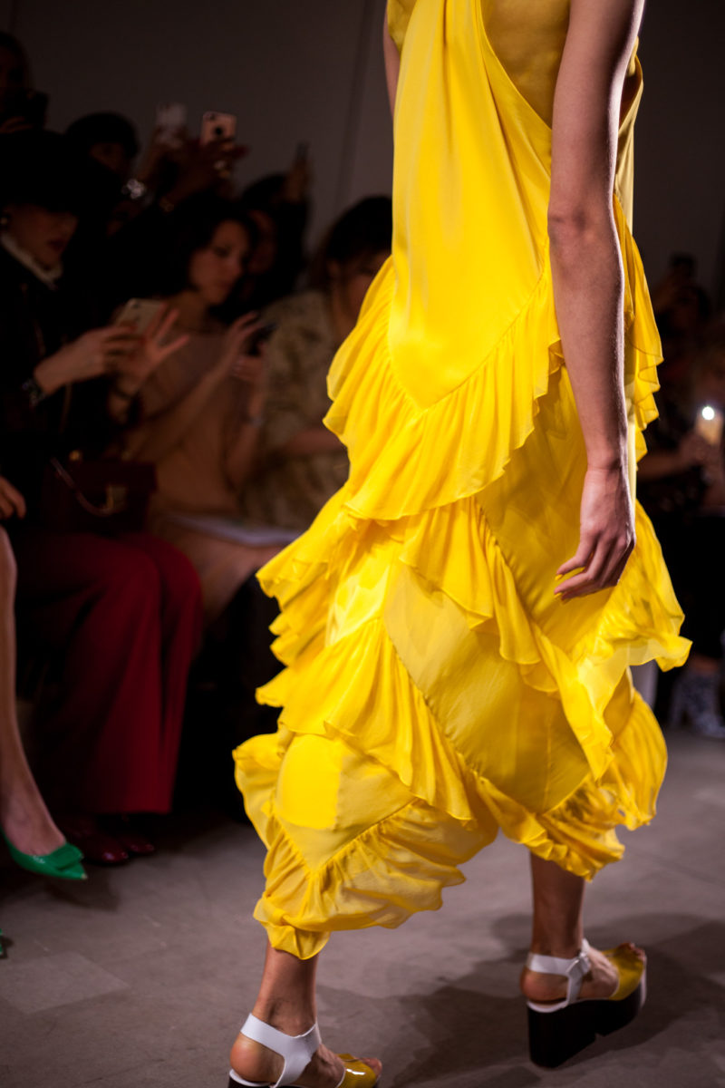 Leanne Marshall SS18 Yellow Ruffle Detail