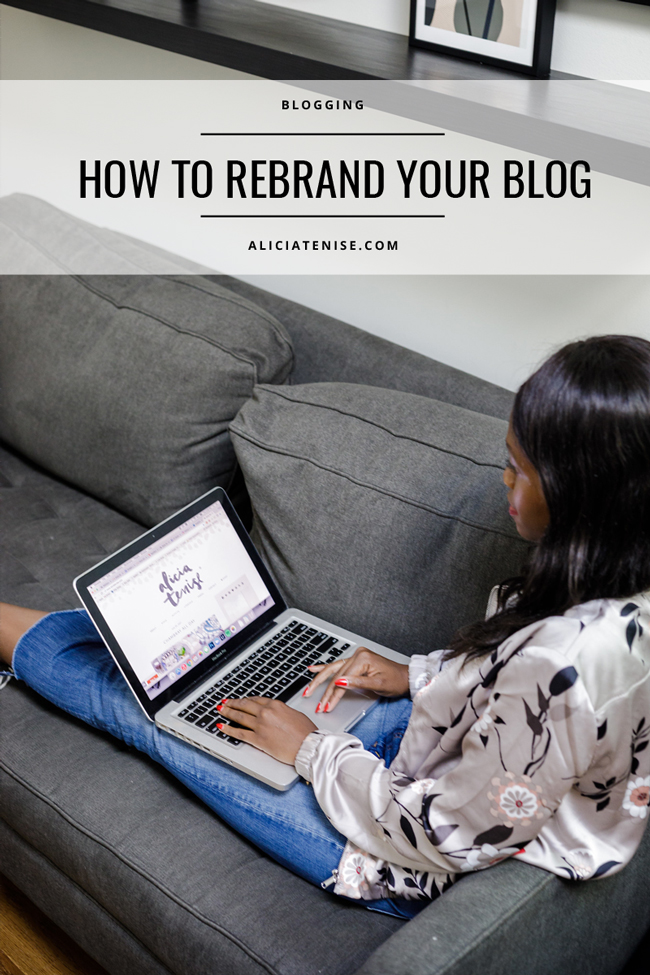 Washington D.C. blogger Alicia Tenise shows you how to rebrand your blog.