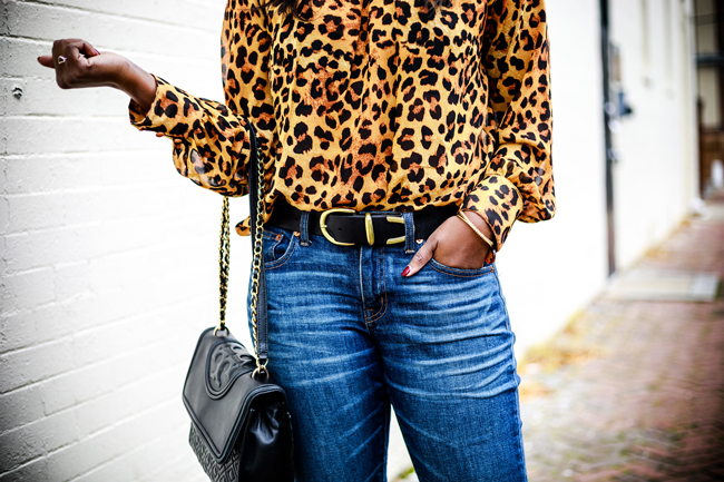 Topshop Belt, Leopard Print Top - Why You Need A Statement Top: The Leopard Blouse by Washington DC fashion blogger Alicia Tenise