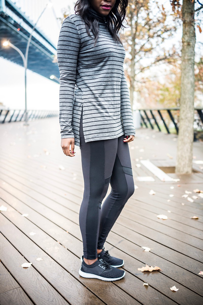 Cold Weather Leggings - Winter Gym Clothes Ideas with Athleta Activewear by Washington DC fashion blogger Alicia Tenise