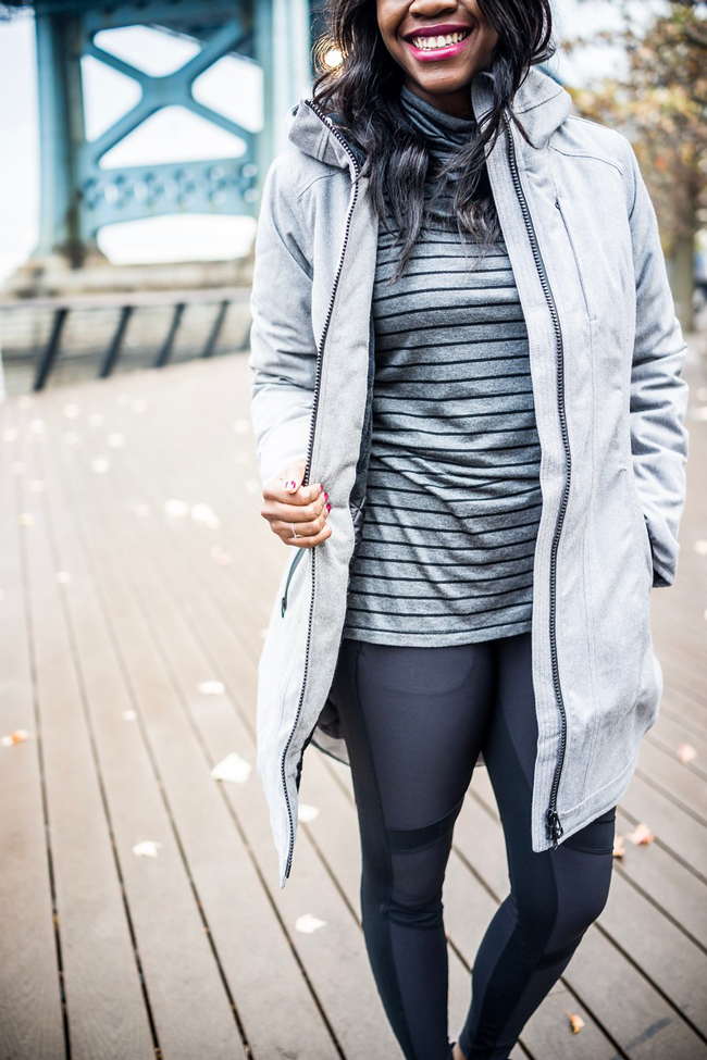 Athleta Summiter Tight, Best Leggings for Winter Workouts - Winter Gym Clothes Ideas with Athleta Activewear by Washington DC fashion blogger Alicia Tenise