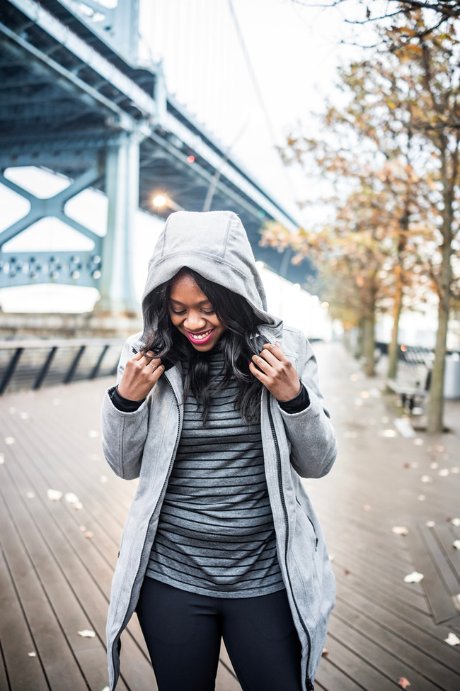 Athleta Cascades Parka - Winter Gym Clothes Ideas with Athleta Activewear by Washington DC fashion blogger Alicia Tenise
