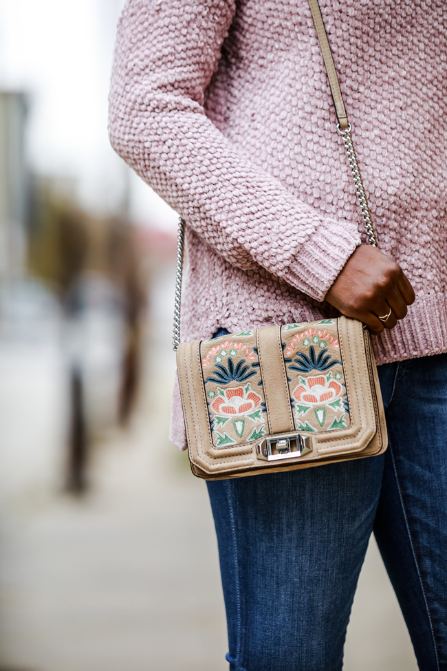 Rebecca Minkoff Small Love Embroidered Crossbody Bag - Two Thanksgiving Outfit Ideas by Washington DC fashion blogger Alicia Tenise