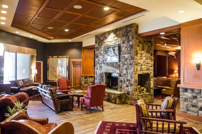 High Peaks Resort Lake Placid Lobby - 48-Hour Travel Guide: Things to Do in Lake Placid by Washington DC travel blogger Alicia Tenise