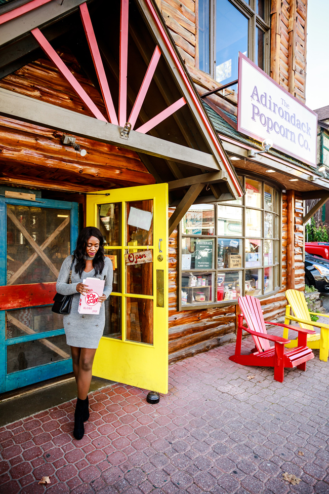 Adirondack Popcorn Company in Lake Placid New York - 48-Hour Travel Guide: Things to Do in Lake Placid by Washington DC travel blogger Alicia Tenise