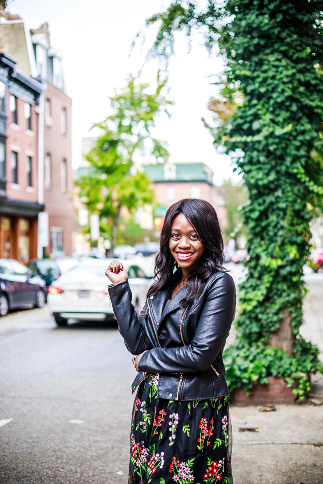 Leather Jacket Under $100 - Living in Philadelphia: A 6-Month Check-In by popular style blogger Alicia Tenise