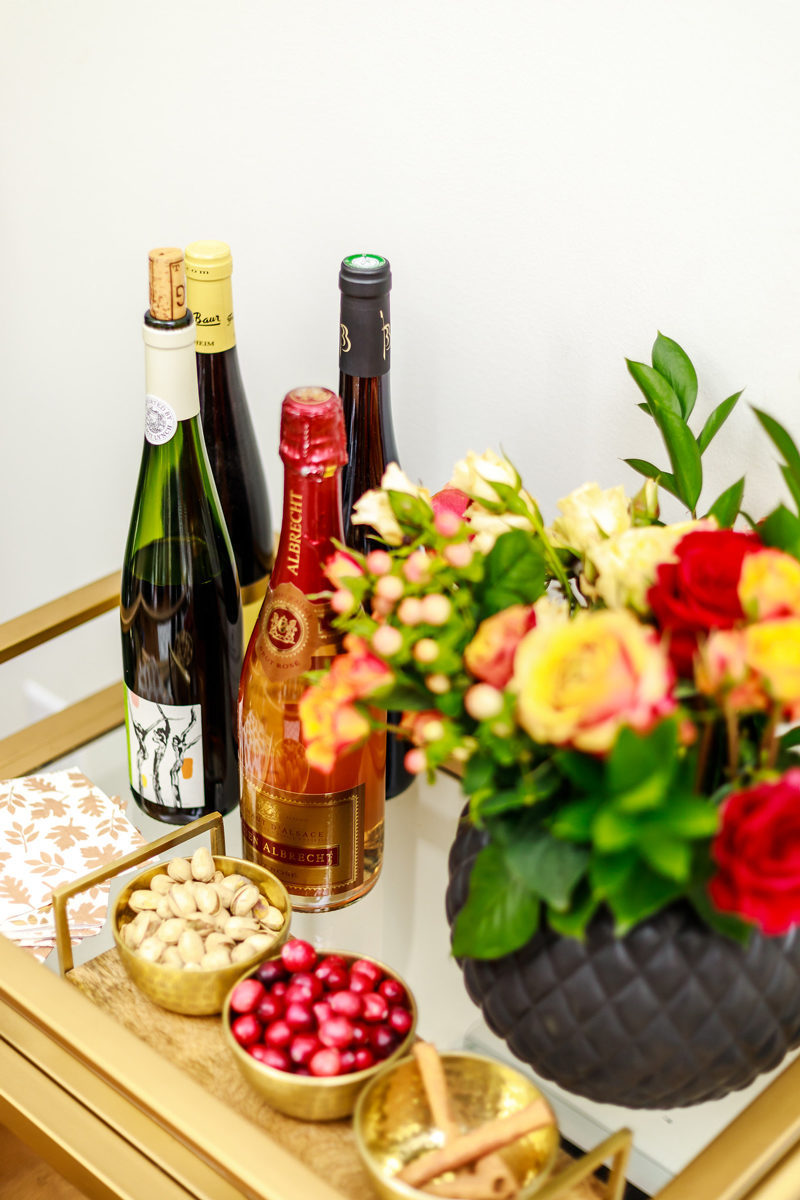 Thanksgiving Bar Cart Ideas by Washington DC style blogger Alicia Tenise