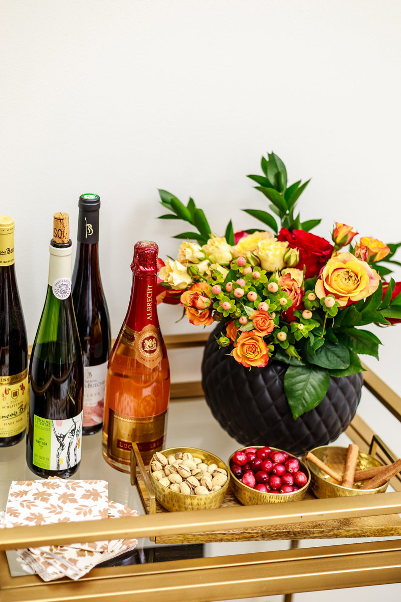The Best Wines for Thanksgiving Dinner - Thanksgiving Bar Cart Ideas by Washington DC style blogger Alicia Tenise