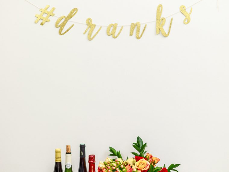Friendsgiving Bar Cart Inspiration
