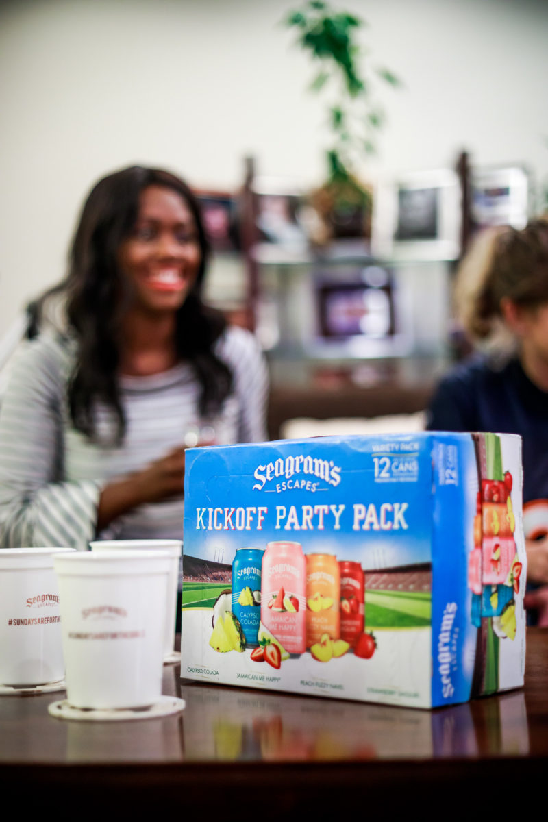 Seagrams Kickoff Party Variety Pack - How I Spend NFL Sundays: NFL Party with Seagrams by Washington DC lifestyle blogger Alicia Tenise