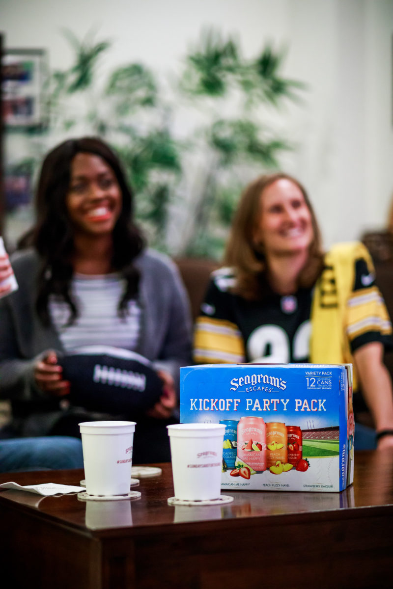 Washington D.C. blogger Alicia Tenise hosts an NFL party with Seagram's Escapes