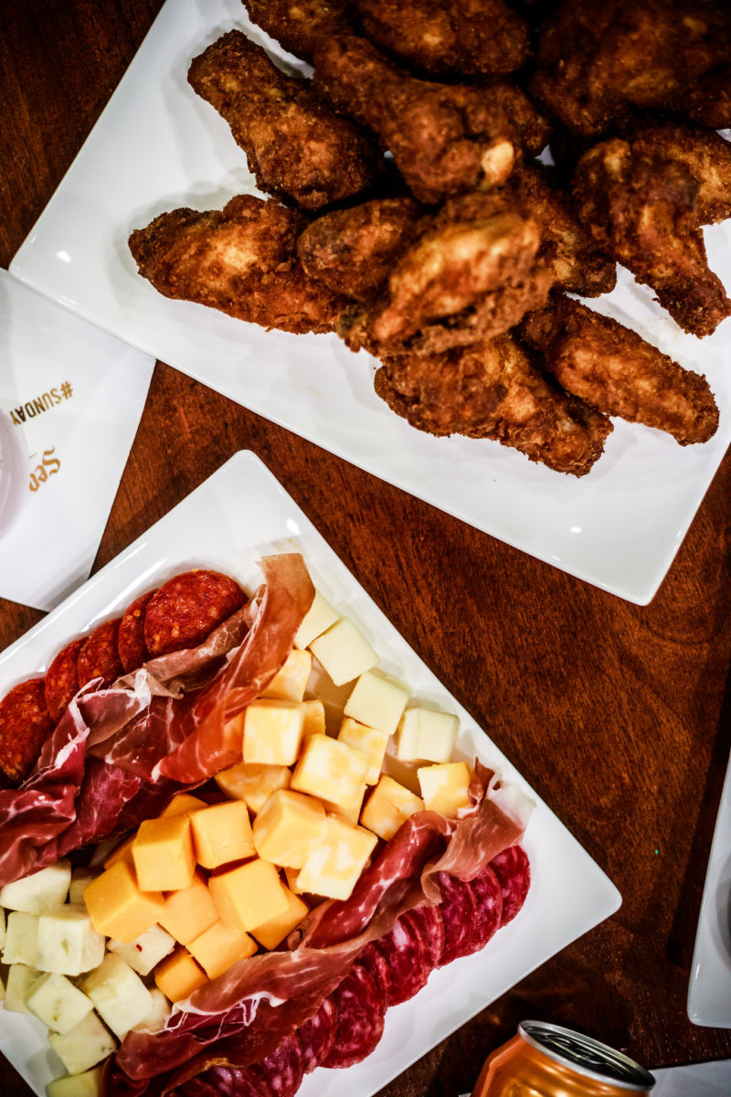 DIY Cheese and Charcuterie Board, Old Bay Wings - How I Spend NFL Sundays: NFL Party with Seagrams by Washington DC lifestyle blogger Alicia Tenise