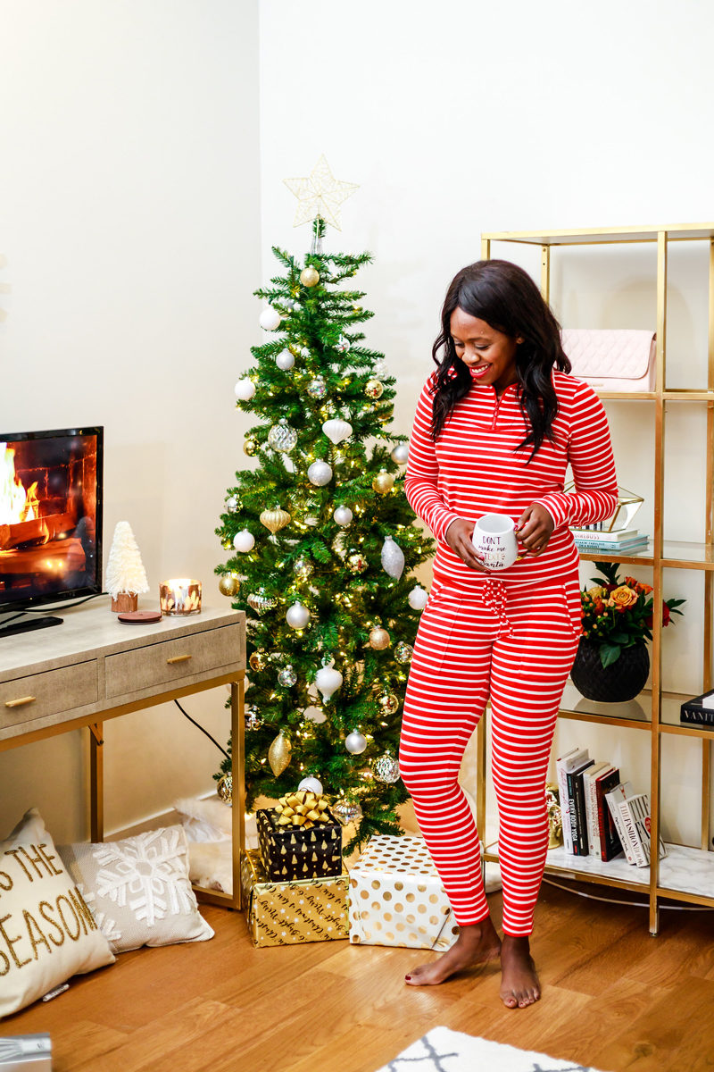 Striped Christmas Pajamas - The Best Holiday Pajamas by Washington DC style blogger Alicia Tenise