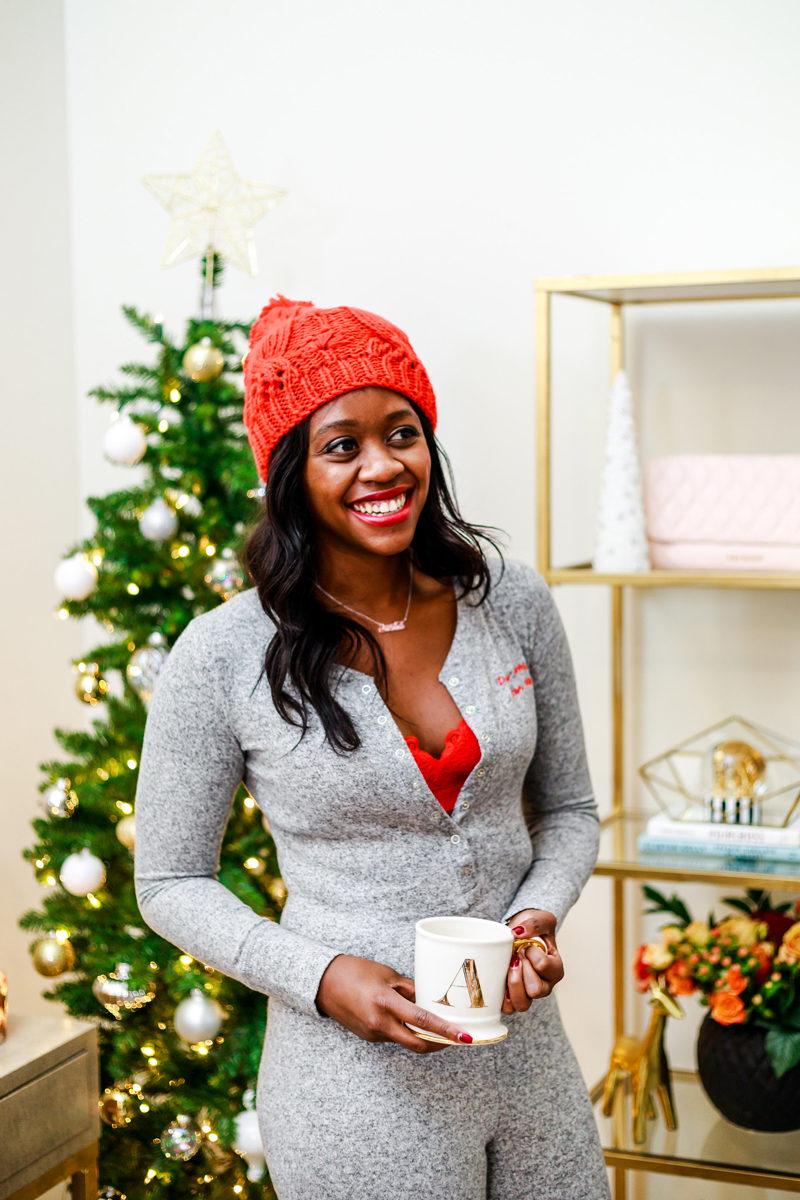 Onesie Christmas Pajamas - The Best Holiday Pajamas by Washington DC style blogger Alicia Tenise