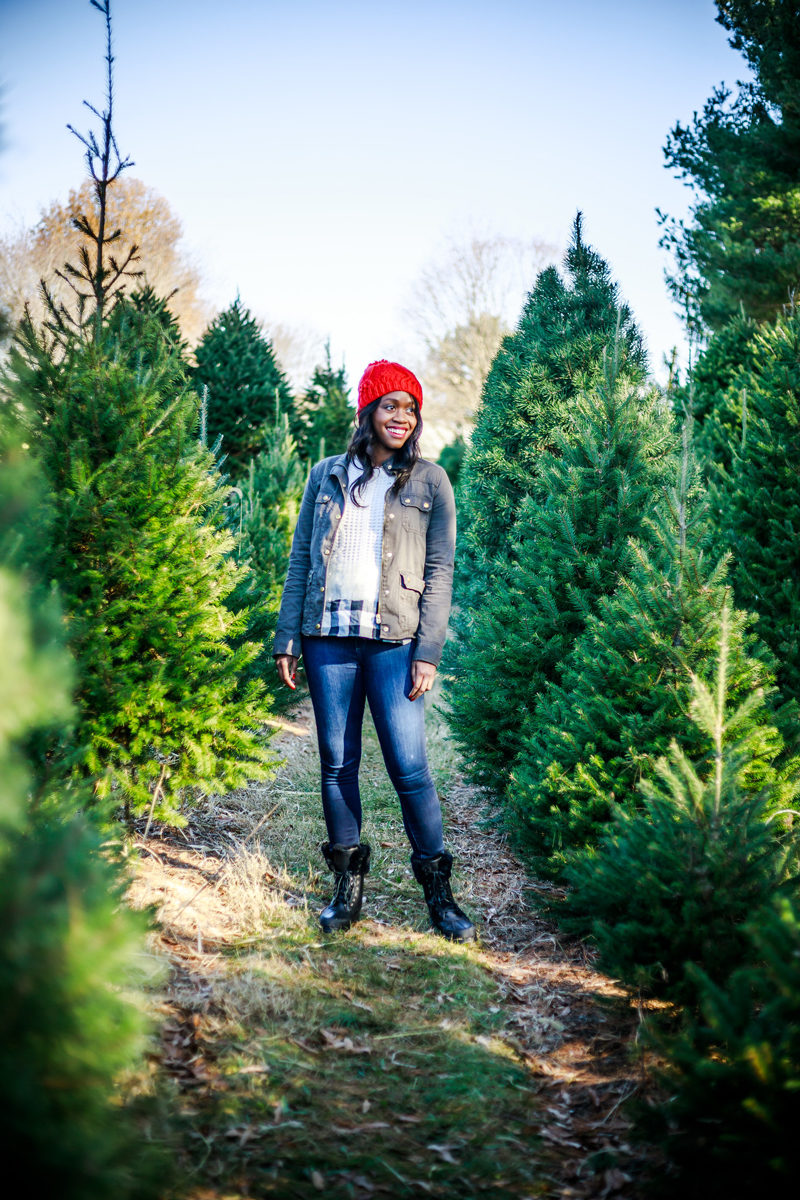 J.Crew Field Jacket, Casual Christmas Outfit Idea - A Casual Christmas Outfit Idea by Washington DC fashion blogger Alicia Tenise