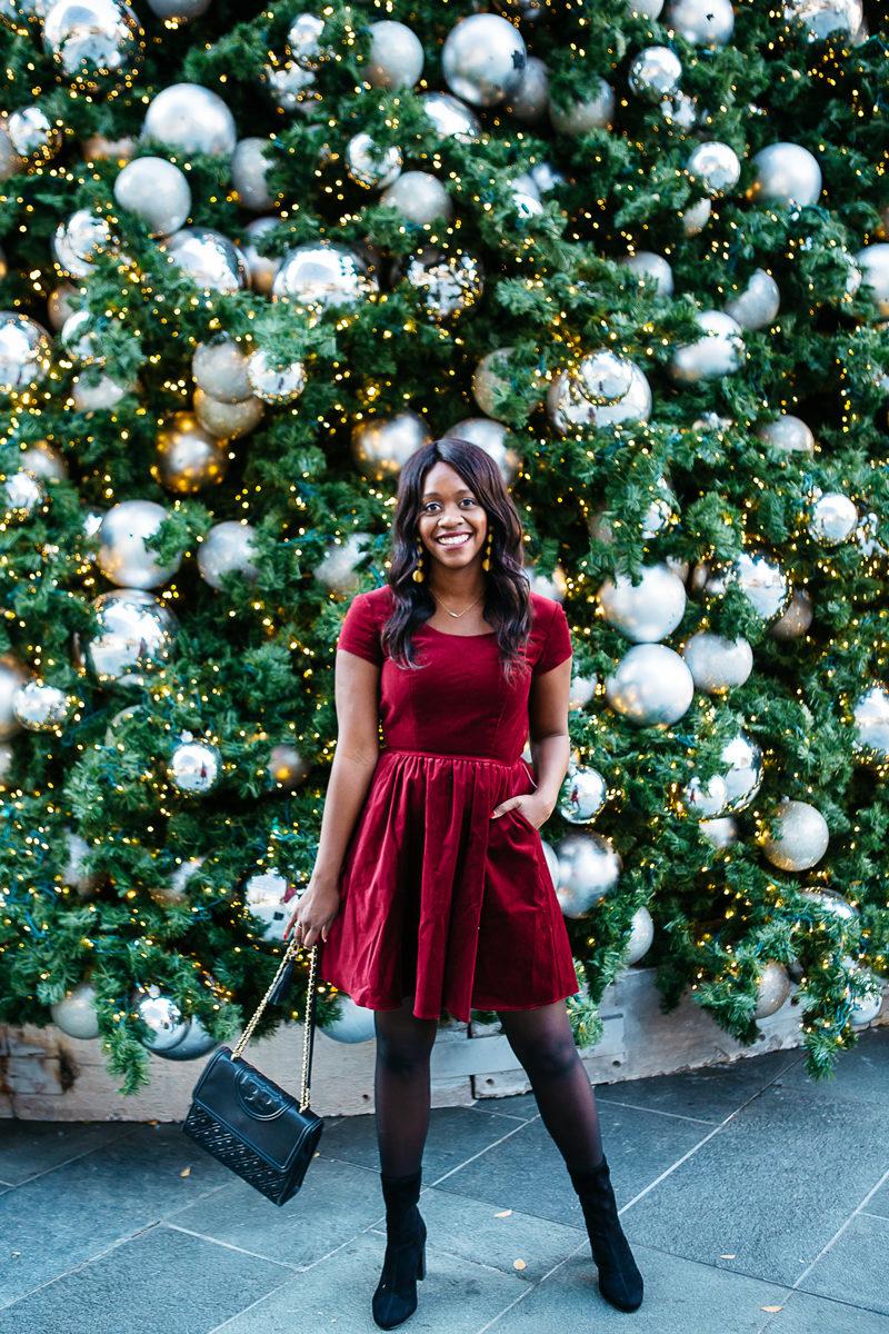 Christmas Eve Dresses.Christmas Outfit For Christmas Eve Holiday Fashion