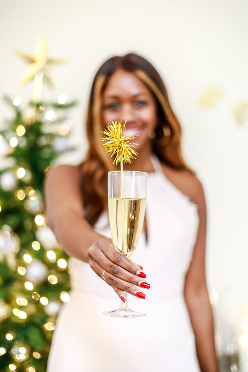 IKEA SVALKA Champagne Flute - Hosting a New Years Eve Party with IKEA by Washington DC style blogger Alicia Tenise