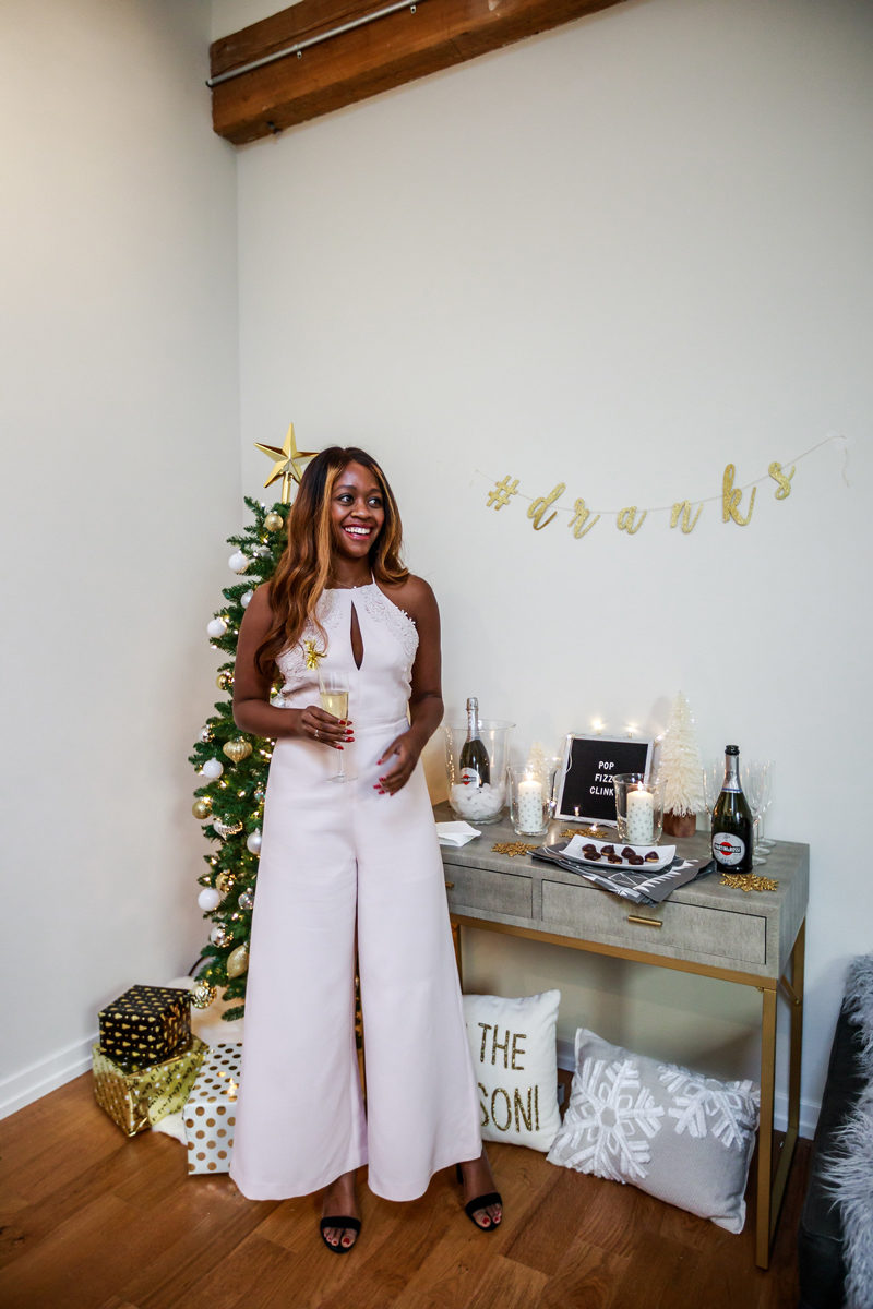 New Years Eve Jumpsuit Outfit Idea - Hosting a New Years Eve Party with IKEA by Washington DC style blogger Alicia Tenise