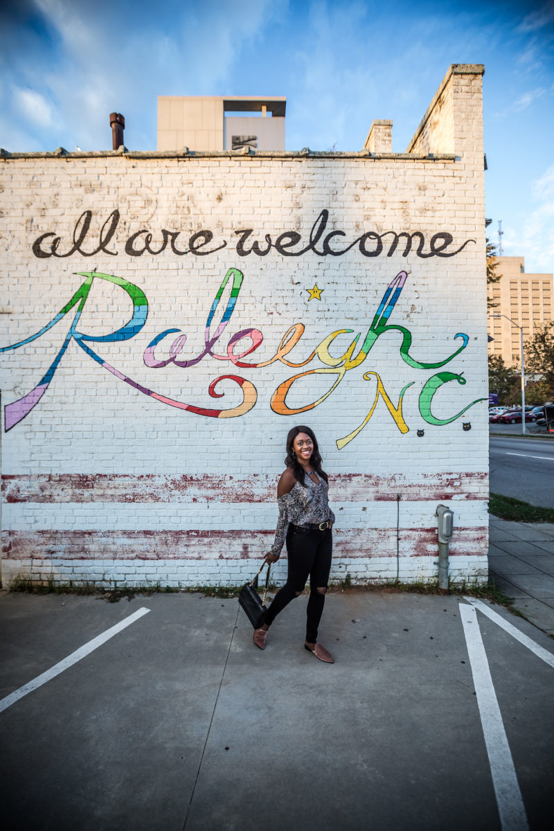 Raleigh NC Mural - From the Beach to the Mountains: My North Carolina Road Trip by popular Washington DC blogger Alicia Tenise