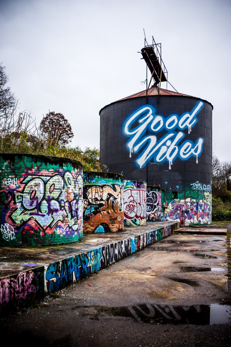 Good Vibes Mural Asheville NC - From the Beach to the Mountains: My North Carolina Road Trip by popular Washington DC blogger Alicia Tenise