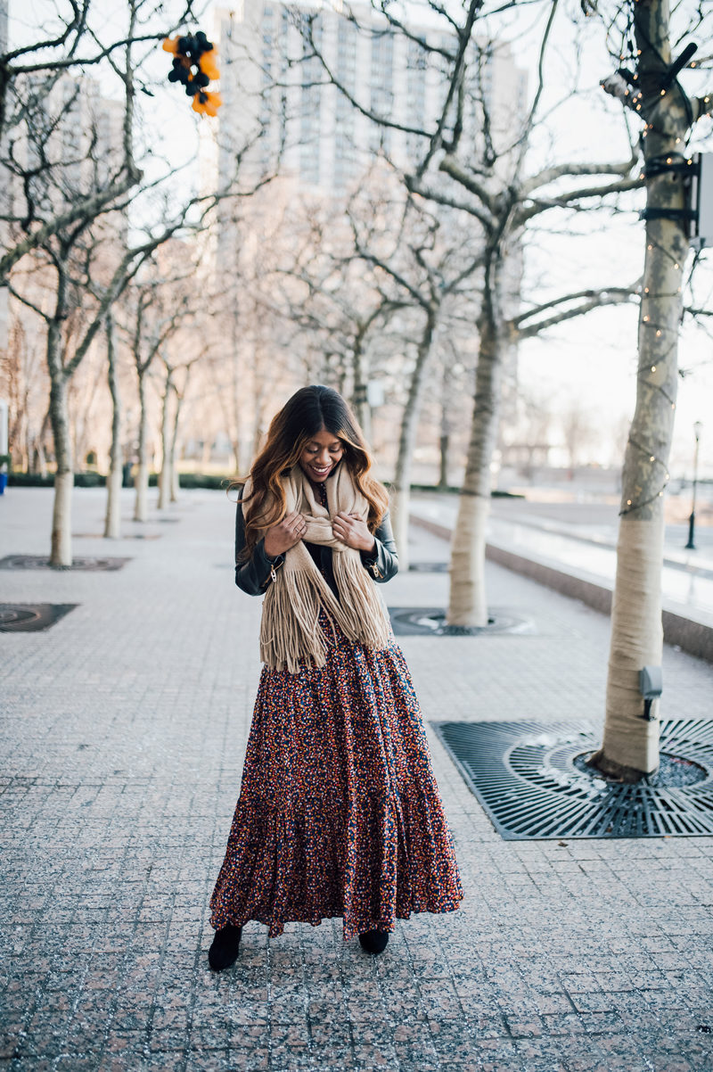 Blogger Alicia Tenise styles the Free People Charlotte Maxi Dress - 5 Things I'm Doing to Be a Better Blogger This Year by popular Washington style blogger Alicia Tenise