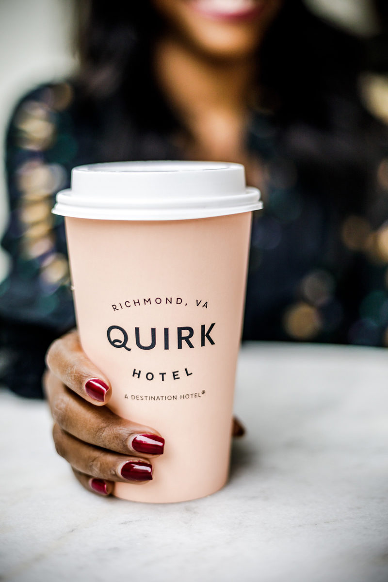 Quirk Hotel Coffee - The Best Breweries and Restaurants in Richmond, VA by popular Washington DC travel blogger Alicia Tenise