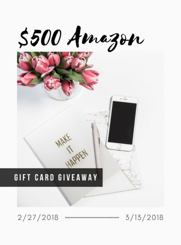 Amazon Giveaway by popular DC blogger Alicia Tenise