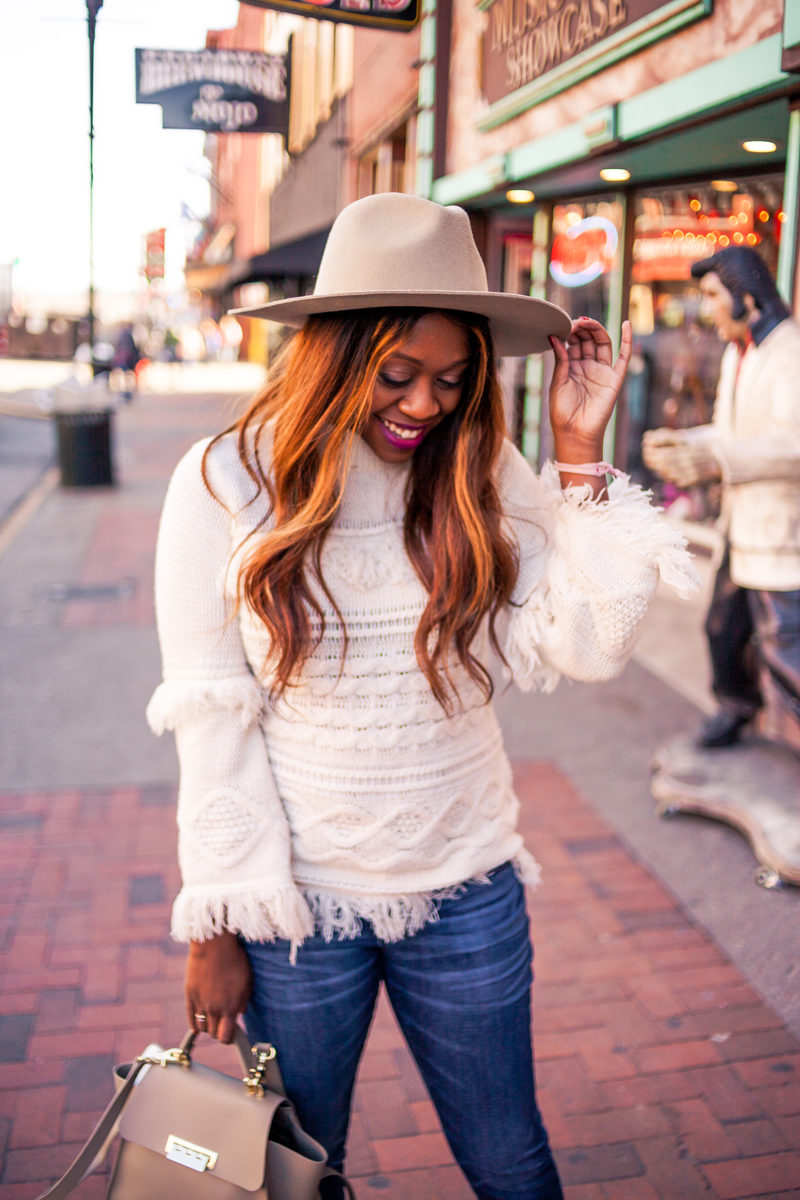 Winter Brunch Outfit Idea - My Travel Bucket List for 2018 by popular DC travel blogger Alicia Tenise