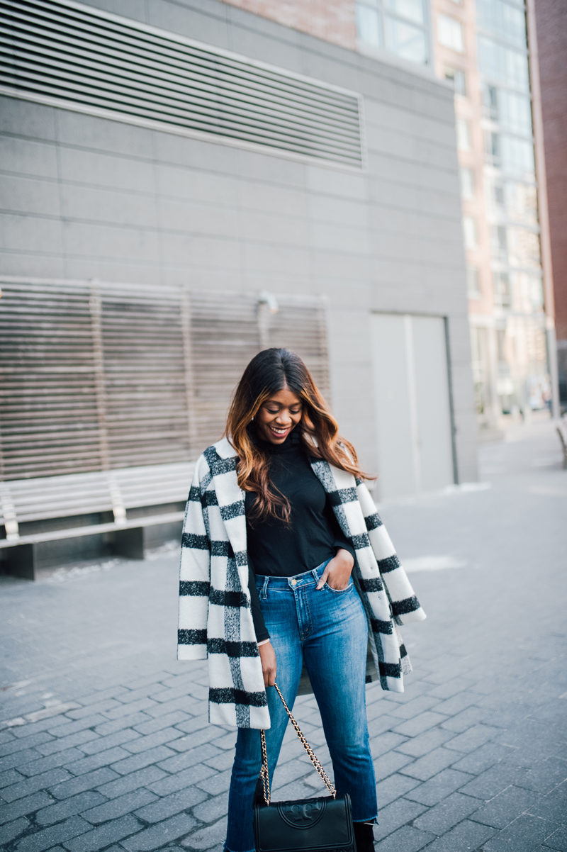 Shilla Frontier Check Coat - NYFW for the Right Reasons by popular DC style blogger Alicia Tenise