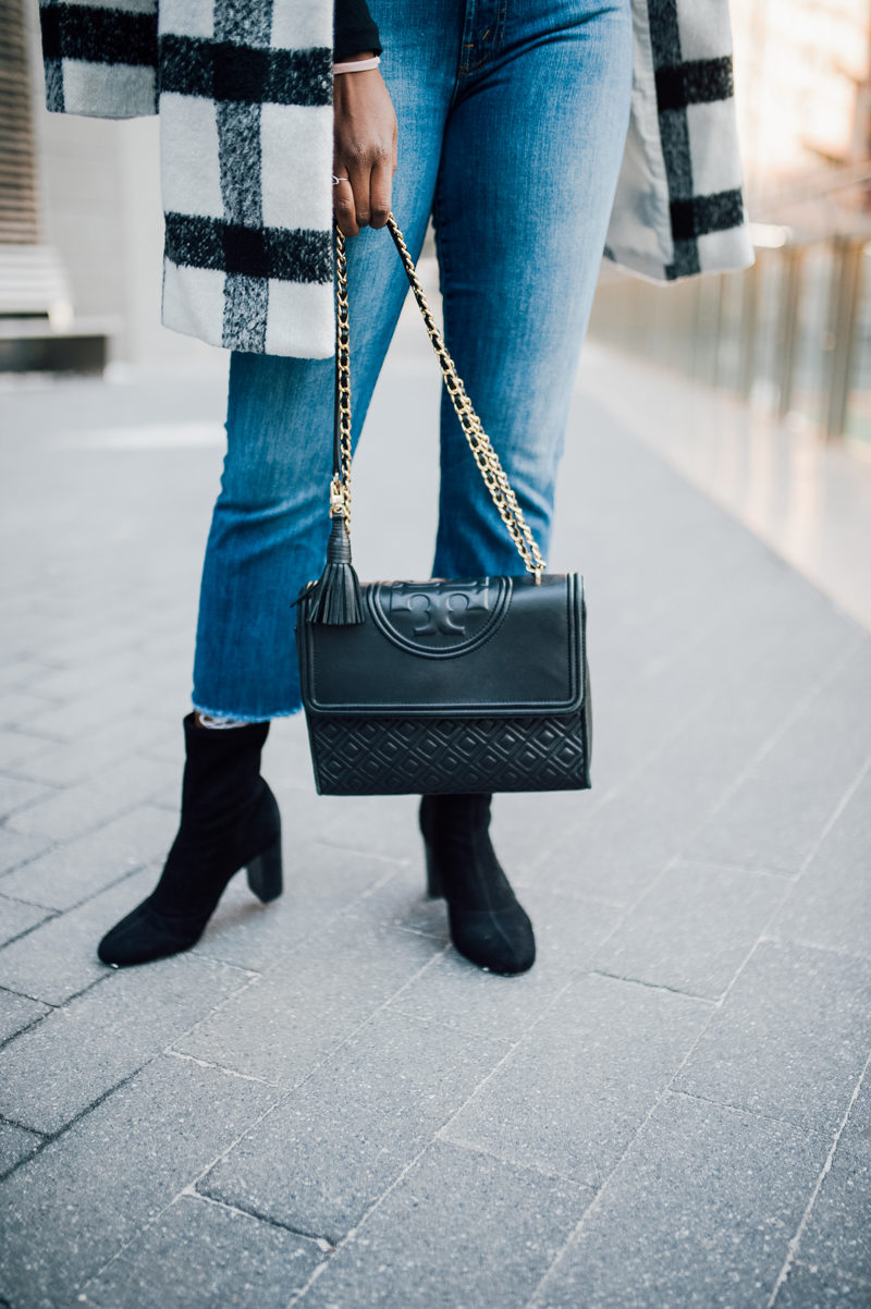 Tory Burch Fleming Bag, Sock Boots - NYFW for the Right Reasons by popular DC style blogger Alicia Tenise