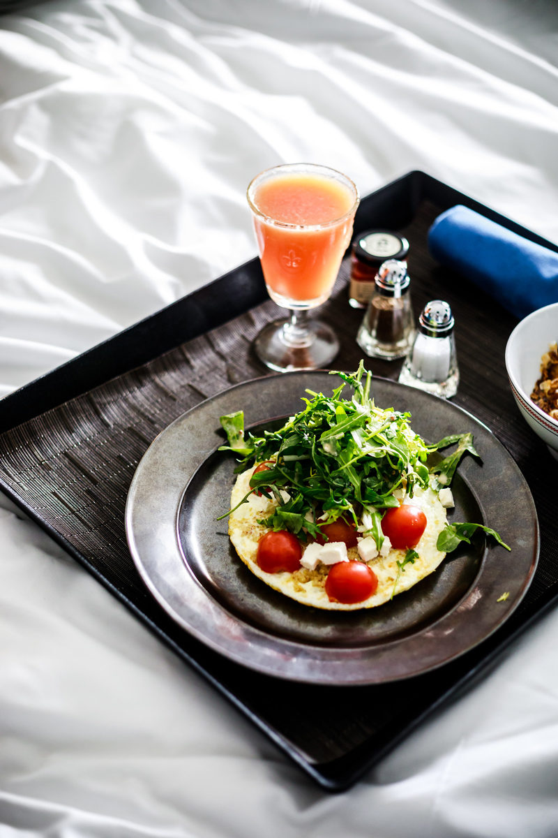 Hotel Indigo Room Service Egg White Frittata - Hotel Indigo Old Town Alexandria review by popular DC blogger Alicia Tenise