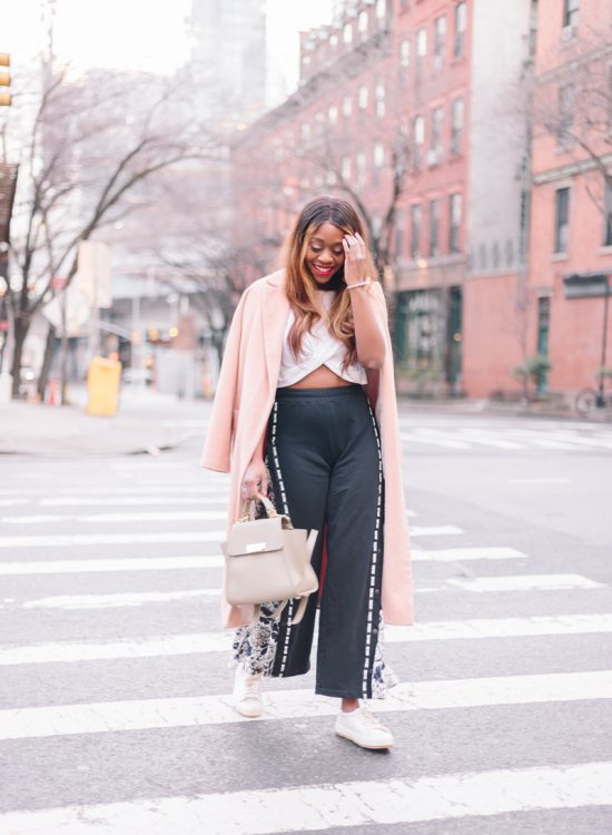 How to Wear the Track Pant Trend- Athleisure Trend by popular Washington DC style blogger Alicia Tenise