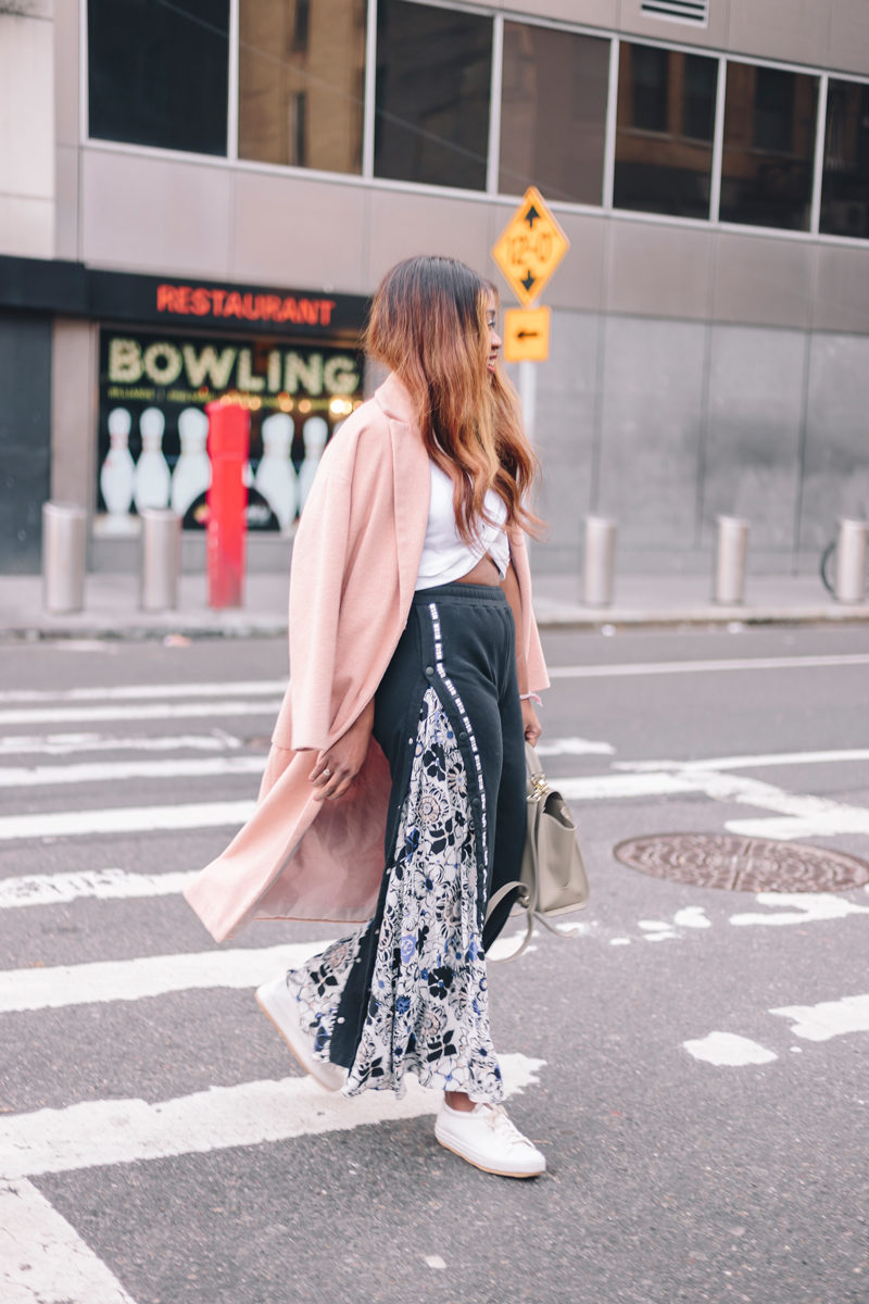 Floral Track Pants - Athleisure Trend by popular Washington DC style blogger Alicia Tenise